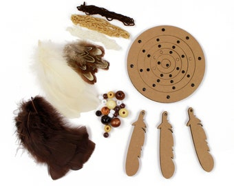 DIY Dream Catcher Kit, Dream Weaver-NATURAL, Dreamcatcher Craft Kit, Craft Kits for Kids, Kids Crafting Kit, Baby Shower Activity ZUCKER®