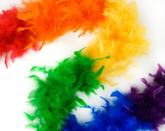 40 Gram Chandelle Feather Boa Classic RAINBOW Sectional 2 Yards For Party Favors, Kids Craft, Dress Up, Dancing, Halloween, Costume Zucker®