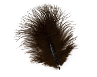 Turkey Feathers, Brown Loose Turkey Marabou Feathers, Short and Soft Fluffy Down, Craft and Fly Fishing Supply Feathers ZUCKER®