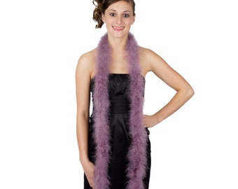 AMETHYST Marabou Feather Boas 6FT - For DIY Art and Crafts, Carnival, Fashion, Halloween Costume Design, Home Decor and more ZUCKER®