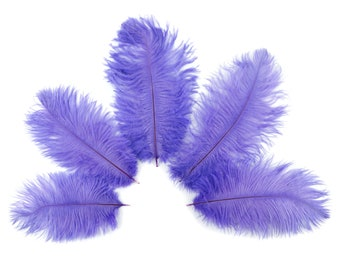 "Bulk Ostrich Feathers 4-8"" LAVENDER, Mini Ostrich Drabs, Bouquets, Boutonnieres, Small Centerpieces ZUCKER® Dyed and Sanitized USA"
