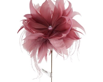 Rose Feather Dahlia Flower - Decorative Feather Flower Stem for Event and Home Decor ZUCKER®