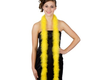 YELLOW Marabou Feather Boas 6FT - For DIY Art and Crafts, Carnival, Fashion, Halloween Costume Design, Home Decor and more ZUCKER®