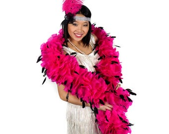 Pink and Black Feather Flapper Costume Set ZUCKER®