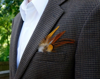 Feather Hat & Lapel Trim