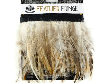 1YD Natural Grey Chinchilla Hackle Feather Fringe - FNC4.5YD--N ZUCKER™