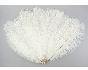 """Ostrich Feathers 13-16"""" WHITE - For Feather Centerpieces,Party Decor,Millinery,Carnival,Fashion and Costume Design ZUCKER®"""