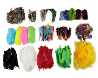 Through the FOREST Feather Mobile Kit - For Arts, Craft, DIY, Costume, Millinery, Cosplay and Fashion Design ZUCKER®