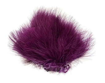 PURPLE Strung Marabou Turkey Feathers - For Fly Fishing, Fly Tying, D.I.Y Arts and Crafts ZUCKER®