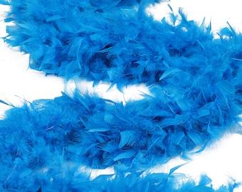 120 Gram Chandelle Feather Boa, Dark Turquoise 2 Yards For Party Favors, Kids Craft & Dress Up, Dancing, Wedding, Halloween, Costume ZUCKER®