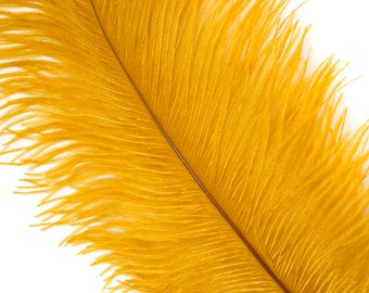"""MARIGOLD 25 Ostrich Feathers 17""""- 20"""" - 25pc/pkg - Perfect for Feather Centerpieces,Party Decor,Millinery & Carnival Costumes ZUCKER®"""
