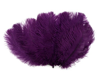 """Ostrich Feathers 13-16"""" PURPLE - For Feather Centerpieces,Party Decor,Millinery,Carnival,Fashion and Costume Design ZUCKER®"""