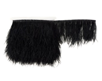 BLACK Bulk 5 YARD Ostrich Feather Fringe - For Bridal, Carnival Costume, Cosplay, Millinery, Fashion Design and Decor  ZUCKER®