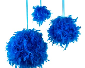 "Large DARK TURQUOISE Decorative Chandelle Feather Pom Poms 18"" - Unique Event Decor For Birthday Parties, Bridal and Baby Showers  ZUCKER®"