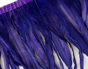 "10-12"" REGAL Dyed Coque Feather Fringe 1YD - DIY Art Crafts, Carnival, Cosplay, Costume, Millinery & Fashion Design Feather Fringe ZUCKER®"