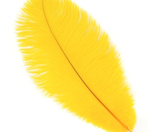 """GOLD Bulk 13-16"""" Ostrich Feathers 1/4LB - For Feather Centerpieces,Party Decor,Millinery,Carnival,Fashion and Costume Design ZUCKER®"""