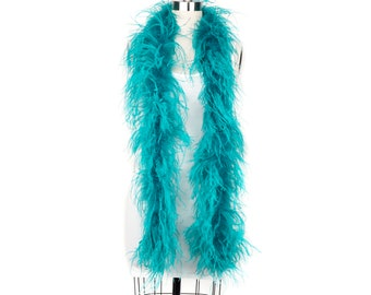 DK. AQUA 2 Ply Ostrich Feather Boas -  Ostrich Feather Boa for Fashion, Costume Design and Special Events - 2 Yards (6 Feet) ea ZUCKER®