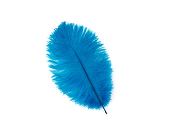 "DARK TURQUOISE Bulk 9-12"" Ostrich Feathers 1/4LB - For Feather Centerpieces,Party Decor,Millinery,Carnival,Fashion & Costume Design ZUCKER®"