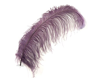"AMETHYST 25 Large Ostrich Feathers 17-25"" 25pc/pkg - For Feather Centerpieces, Party Decor, Millinery , Carnival , Costume ZUCKER®"