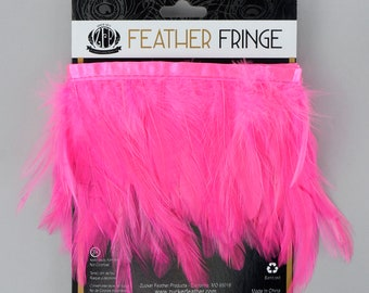 PINKORIENT 1YD Dyed Hackle Feather Fringe - Feather Fringe for DIY Arts and Crafts, Costume, Fashion & Millinery Design  ZUCKER®