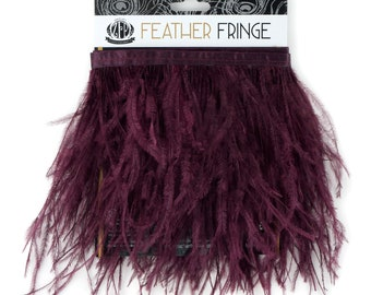 FIG 1 YARD Ostrich Feather Fringe - For Bridal, Carnival Costume, Cosplay, Millinery, Fashion Design and Decor  ZUCKER®