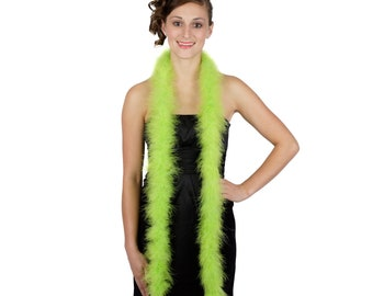 LIME Marabou Feather Boas 6FT - For DIY Art and Crafts, Carnival, Fashion, Halloween Costume Design, Home Decor and more ZUCKER®