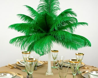"Ostrich Feathers 13-16"" KELLY Green - For Feather Centerpieces, Party Decor, Millinery, Carnival, Fashion & Costume ZUCKER®"