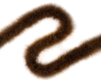 BROWN Marabou Feather Boas 20 Grams 2 Yards For DIY Art Crafts Carnival Fashion Halloween Costume Design Home Decor ZUCKER®
