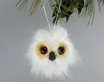 Decorative White Owl Feather Ornament - Christmas Owl Ornament OWL5.5--W ZUCKER™