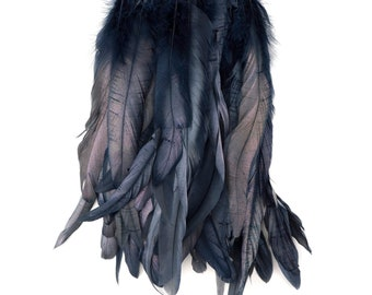 BLACKPEARL 1YD Metallic Dyed Iridescent Coque Tail Feather Fringe - For DIY, Carnival, Cosplay, Costume, Millinery & Fashion Design ZUCKER®