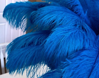 """Ostrich Feathers 17-20"""" Dark TURQUOISE, 1 to 25 pc, Ostrich Plumes, Carnival, Ostrich Drab, Mardi Gras, Centerpieces, Fans, ZUCKER® USA"""