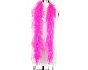 SHOCKING PINK 2 Ply Ostrich Feather Boas -  Ostrich Feather Boa for Fashion, Costume Design and Special Events - 2 Yards (6 Feet) ea ZUCKER®