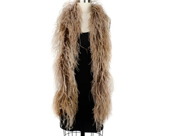 CAMEL 2 Ply Ostrich Feather Boas -  Ostrich Feather Boa for Fashion, Costume Design and Special Events - 2 Yards (6 Feet) ea ZUCKER®