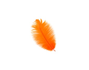 "ORANGE 4-8"" Bulk Ostrich Feathers 1/4LB - For Feather Centerpieces, Party Decor, Millinery, Fashion & Costume Design ZUCKER®"
