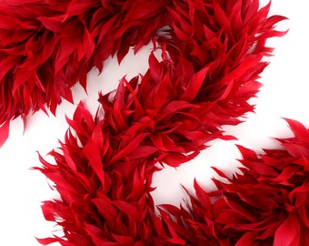 Fancy Feather Boa, Red Goose Feather Boa 2 Yards For Party Favors, Kids Craft & Dress Up, Dancing, Wedding, Halloween, Costume ZUCKER®