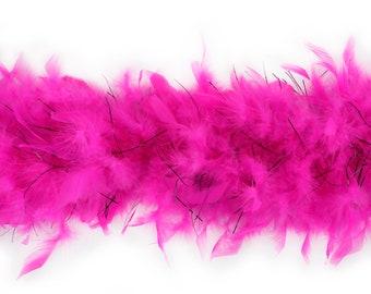 40 Gram Chandelle Feather Boa  PINK & BLACK LUREX 2 Yards For Party Favors, Kids Craft, Dress Up, Dance, Halloween, Costume Zucker®