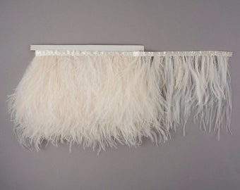 IVORY Bulk 5 YARD Ostrich Feather Fringe - For Bridal, Carnival Costume, Cosplay, Millinery, Fashion Design and Decor  ZUCKER®