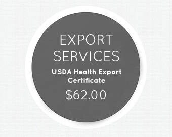 Export Services - U.S. Department of Agriculture Export Certificate USDA ZUCKER®