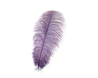 "12 AMETHYST 17""+ Ostrich Feathers 1DZ - Perfect for Large Feather Centerpieces, Party Decor, Millinery, Carnival & Costume Design ZUCKER®"