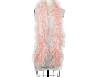 CHAMPANGE 2 Ply Ostrich Feather Boas -  Ostrich Feather Boa for Fashion, Costume Design and Special Events - 2 Yards (6 Feet) ea ZUCKER®