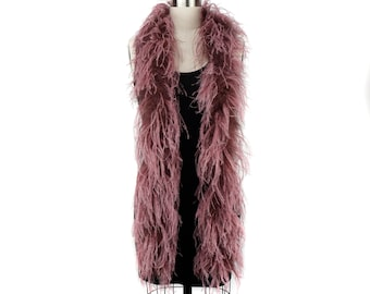 AMETHYST 2 Ply Ostrich Feather Boas -  Ostrich Feather Boa for Fashion, Costume Design and Special Events - 2 Yards (6 Feet) ea ZUCKER®