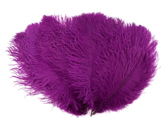 """Ostrich Feathers 13-16"""" Fuschia VERRY BERRY- For Feather Centerpieces,Party Decor,Millinery,Carnival,Fashion and Costume Design ZUCKER®"""