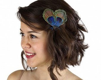 Natural Peacock Eye Feather Clip - Feather Clip for Hair FBTP--N ZUCKER®
