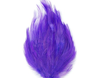 LAVENDER 12 Dyed Hackle Pads - For Feather Crafts, Fascinators, Millinery, Fashion, Costume and Carnival Design ZUCKER®