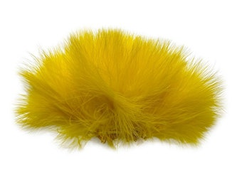 YELLOW Strung Marabou Turkey Feathers - For Fly Fishing, Fly Tying, D.I.Y Arts and Crafts ZUCKER®