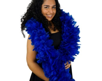 ROYAL Turkey Feather Boa - Large Economy Feather Boa for Carnival, Halloween, Costume Party, Burlesque & Showgirl Costume ZUCKER®