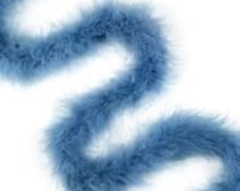 Dusty Blue Marabou Feather Boas 20 Grams 2 Yards For DIY Art Crafts Carnival Fashion Halloween Costume Design Home Decor ZUCKER®