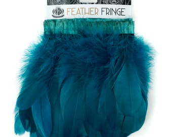 PEACOCKBLUE 1 Yard Parried Goose Pallet Feather Fringe - For DIY Art Crafts, Carnival Costume, Cosplay, Millinery & Fashion Design ZUCKER®