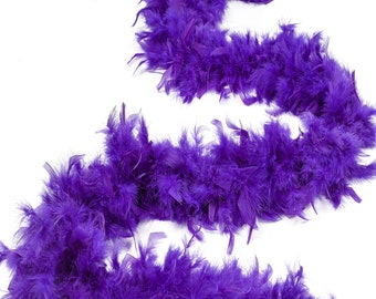 60 Gram Chandelle Feather Boa, Regal Purple 2 Yards For Party Favors, Kids Craft & Dress Up, Dancing, Wedding, Halloween, Costume ZUCKER®
