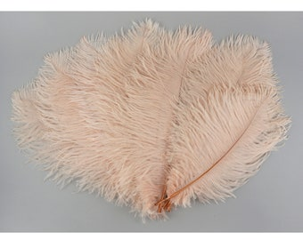 """Ostrich Feathers 13-16"""" Blush Pink CHAMPAGNE - For Feather Centerpieces, Party Decor, Millinery, Carnival, Fashion & Costume ZUCKER®"""